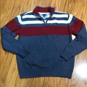 Tommy Hilfiger Quarter Zip Sweater Size L (Boy)